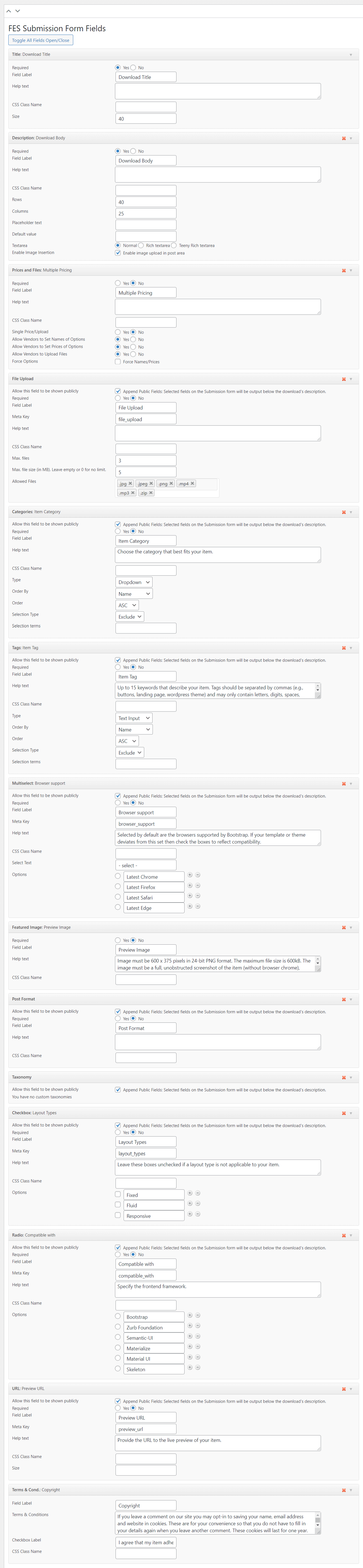 EDD Front End Submission Form