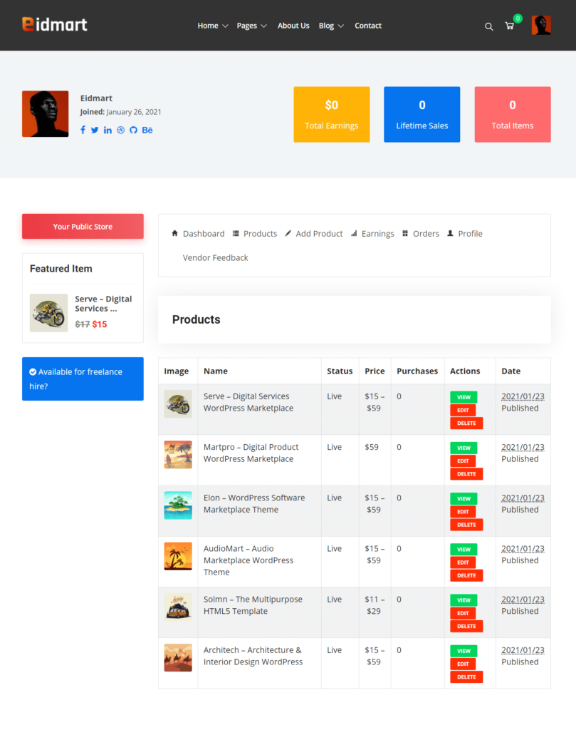 Vendor Products